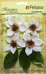 White Vintage Velvet Magnolia Blooms - Petaloo