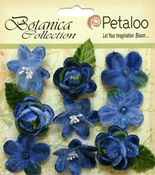 Blue Vintage Velvet Mini Blooms - Petaloo