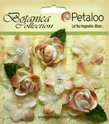 Ivory Vintage Velvet Mini Blooms - Petaloo
