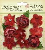 Red Vintage Velvet Mini Blooms - Petaloo