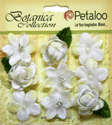 White Vintage Velvet Mini Blooms - Petaloo