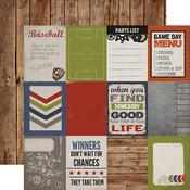 Journaling Card 3 x 4 Paper - Work Hard Play Hard - Carta Bella