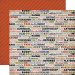 Sport Words Paper - Work Hard Play Hard - Carta Bella