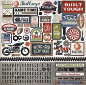 Work Hard Play Hard Sticker Sheet - Carta Bella