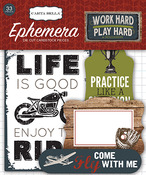 Work Hard Play Hard Ephemera - Carta Bella
