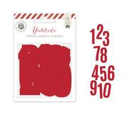 Red Shimmer Jumbo Numbers - Yuletide - Pink Paislee