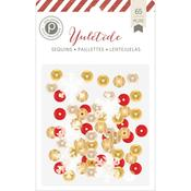 Yuletide Assorted Sequins - Pink Paislee