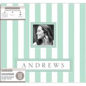 "Mint Wide Stripe - K&Company Frame-A-Name Post Bound Album 12""X12"""