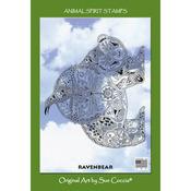 "Raven Bear - EarthArt International Cling Stamp 4.25""X7"""