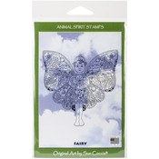 "Fairy - EarthArt International Cling Stamp 4.25""X7"""