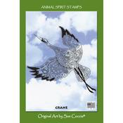 "Crane - EarthArt International Cling Stamp 4.25""X7"""