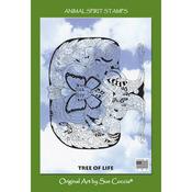 "Tree Of Life - EarthArt International Cling Stamp 4.25""X7"""