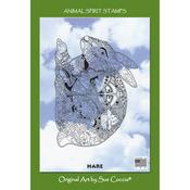 "Hare - EarthArt International Cling Stamp 4.25""X7"""