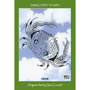 "Crab - EarthArt International Cling Stamp 4.25""X7"""