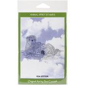 "Sea Otter - EarthArt International Cling Stamp 4.25""X7"""