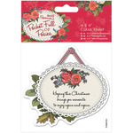 "Hanging Tag - Papermania Pocket Full Of Posies Clear Stamps 4""X4"""