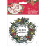 "Wreath - Papermania Pocket Full Of Posies Clear Stamps 4""X4"""