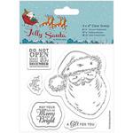 "Santa - Papermania Jolly Santa Clear Stamps 4""X4"""