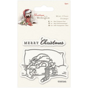 Bedtime - Wellington Christmas Mini Clear Stamps 75mm X 75mm