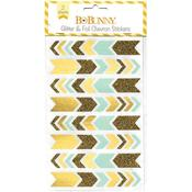 Gold Glitter & Foil Chevron Stickers - Bo Bunny