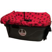 """Red/Black Paw Prints - FidoRido Pet Car Seat 24""""x18""""X10"""""""