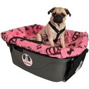 "Pink/Diva - FidoRido Pet Car Seat 24""x18""X10"""
