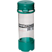 "Green - Viewtainer Tethered Cap Storage Container 2""X6"""