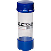 "Blue - Viewtainer Tethered Cap Storage Container 2""X6"""