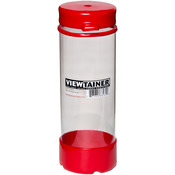 "Red - Viewtainer Tethered Cap Storage Container 2.75""X8"""