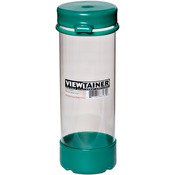 "Green - Viewtainer Tethered Cap Storage Container 2.75""X8"""