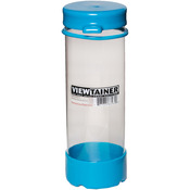 "Sky Blue - Viewtainer Tethered Cap Storage Container 2.75""X8"""