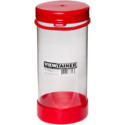 """Red - Viewtainer Tethered Cap Storage Container 3.625""""X8"""""""