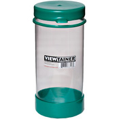 "Green - Viewtainer Tethered Cap Storage Container 3.625""X8"""