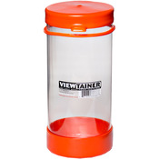 "Orange - Viewtainer Tethered Cap Storage Container 3.625""X8"""