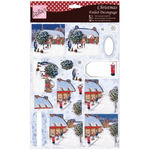 Winter Scene - Anita's A4 Foiled Decoupage Sheet
