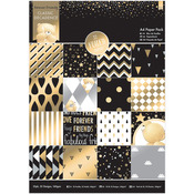 Foiled Classic Decadence - Forever Friends Single-Sided Paper Pack A4 32/Pkg