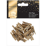 Gold - Forever Friends Classic Decadence Mini Pegs 24/Pkg