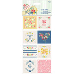 Papermania Folk Floral Tear Off Toppers 16/Pkg