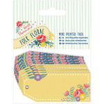 Papermania Folk Floral Mini Printed Tags 10/Pkg