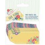 Papermania Folk Floral Mini Printed Tags 10/Pkg