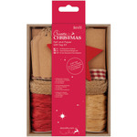 Red - Papermania Create Christmas Felt & Paper Gift Tag Kit