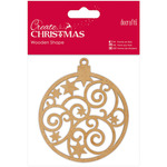 Bauble - Papermania Create Christmas Wooden Shape