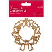 Wreath - Papermania Create Christmas Wooden Shape