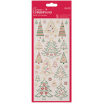 Christmas Trees - Papermania Create Christmas Glitter Dot Stickers