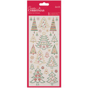 Christmas Trees - Papermania Create Christmas Glitter Dot Stickers