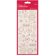 Christmas Baubles - Papermania Create Christmas Glitter Dot Stickers