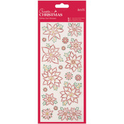 Christmas Flowers - Papermania Create Christmas Glitter Dot Stickers