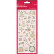 Christmas Numbers Create Christmas Glitter Dot Stickers - Papermania