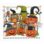 "9""X7.5"" 14 Count - Boo Friends Counted Cross Stitch Kit"