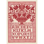 "10""X14.75"" 14 Count - Folk Art Sampler Counted Cross Stitch Kit"